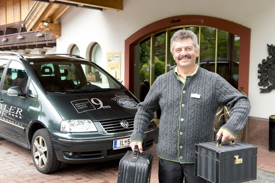 WE WOULD BE DELIGHTED TO COLLECT YOU FROM THE RAILWAY STATION IN SEEFELD IN TYROL!